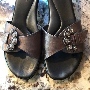 Matisse Italian Made Sandals with Jeweled Buckle 8